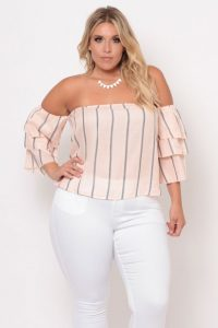 Plus Size Off Shoulder Tunics
