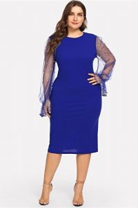 Plus Size Prom Dress Royal Blue