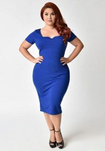 Plus Size Royal Blue Prom Dress