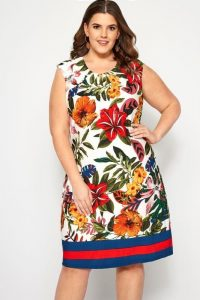 Plus Size Tropical Formal Dress