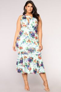 Plus Size Tropical Summer Dress