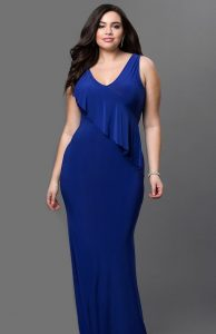 Royal Blue Plus Size Prom Dress