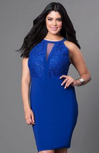Royal Blue Plus Size Prom Dresses