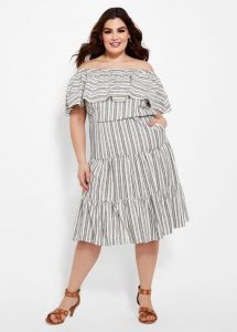 Ruffle Tiered Plus Size Dress