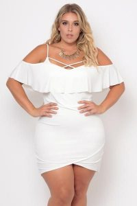 Women's Plus Size Ruffle Dress