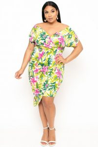 Women's Plus Size Tropical Dresses