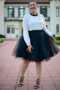 Black Plus Size Tulle Skirt