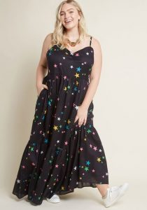 Cotton Maxi Dress Plus Size