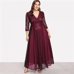 Laced Flowy Dress For Curvy