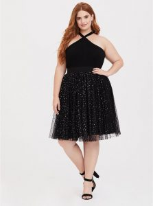 Plus Size Black Tulle Skirts
