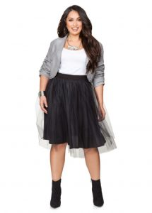 Plus Sized Black Tulle Skirt