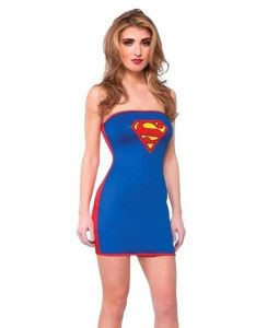 Supergirl Plus Size Tube Dress