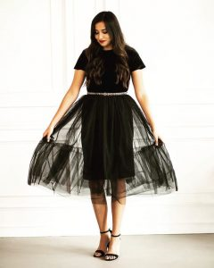 Tulle Skirt With Pencil Knee Length