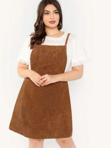 Plus Size Pinafore Dress