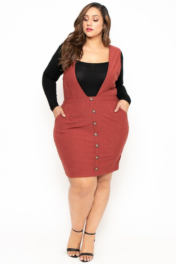 Plus Size Pinafore Dresses