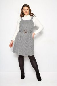 Plus Sized Pinafore Dress