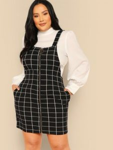 Pocket Side Pinafore Dress