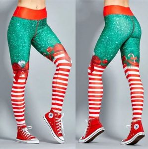 Christmas Print Leggings In XL