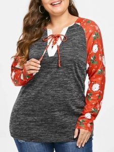 Christmas Tees For Plus Size