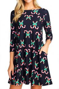 Cute Printed Christmas Tunics