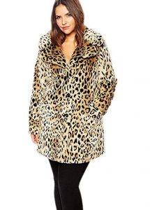 Leopard Faux Fur Coat Plus Size