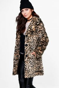 Leopard Plus Size Coat