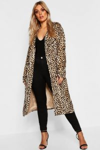 Leopard Print Trench Coat In XL