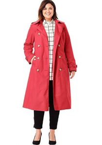 Long Red Trench Coat