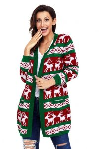 Plus Size Christmas Cardigan