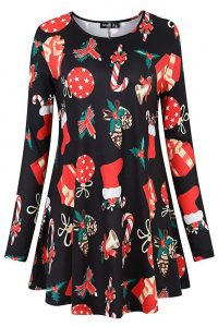 Plus Size Christmas Ladies Tunic