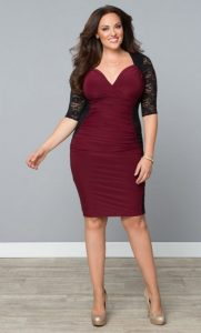 Plus Size Christmas Party Dress