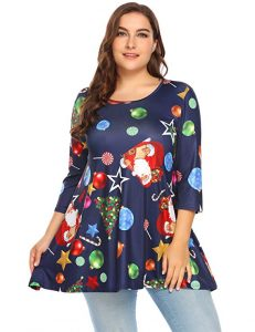 Plus Size Christmas Tunic