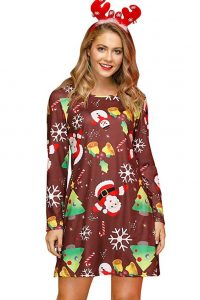 Plus Size Christmas Tunic Dress