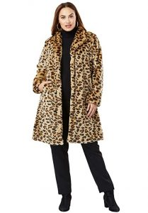 Plus Size Leopard Print Coat