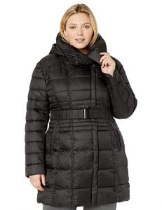 Plus Size Puffer Coat With Hood