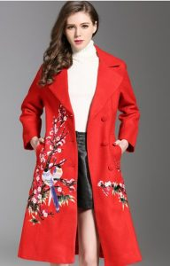 Plus Sized Red Trench Coat