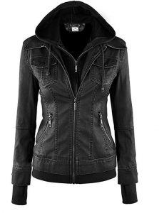 Real Hooded Leather Jacket