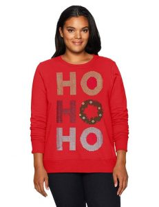Red Christmas Sweater Plus Size