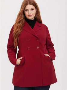 Red Trench Coat Plus Size