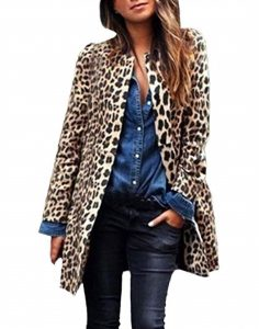 Short Fur Leopard Coat