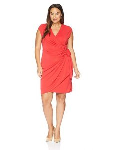 Sleeveless Red Wrap Dress