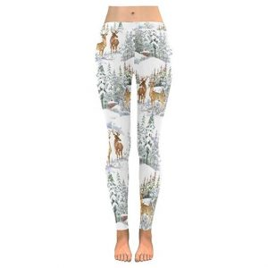 White Christmas Print Leggings