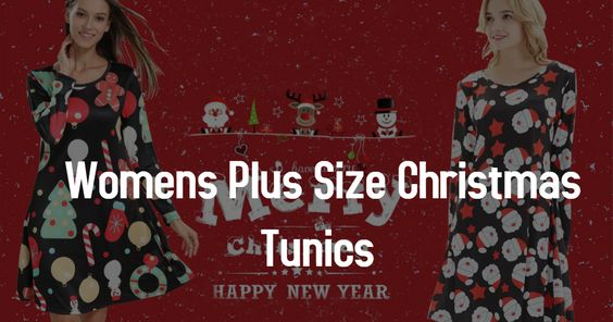 Womens Plus Size Christmas Tunics