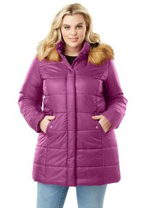 Womens Plus Size Quilted Coats