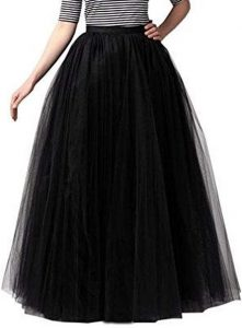 Long Black Tulle Skirts