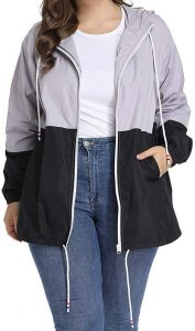 Plus Size Lightweight Windbreaker