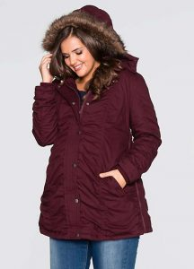 Plus Sized Maternity Winter Coat