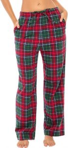 Red- Green Flannel Pajamas