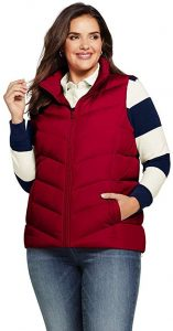 Red Plus Size Winter Vests