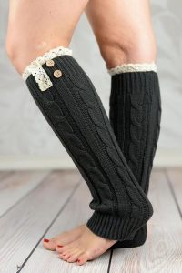Black Plus Size Leg Warmers